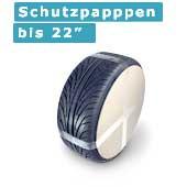 Staffelpreise: 100 Schutzpappen für 18 - 22 Zoll Räder