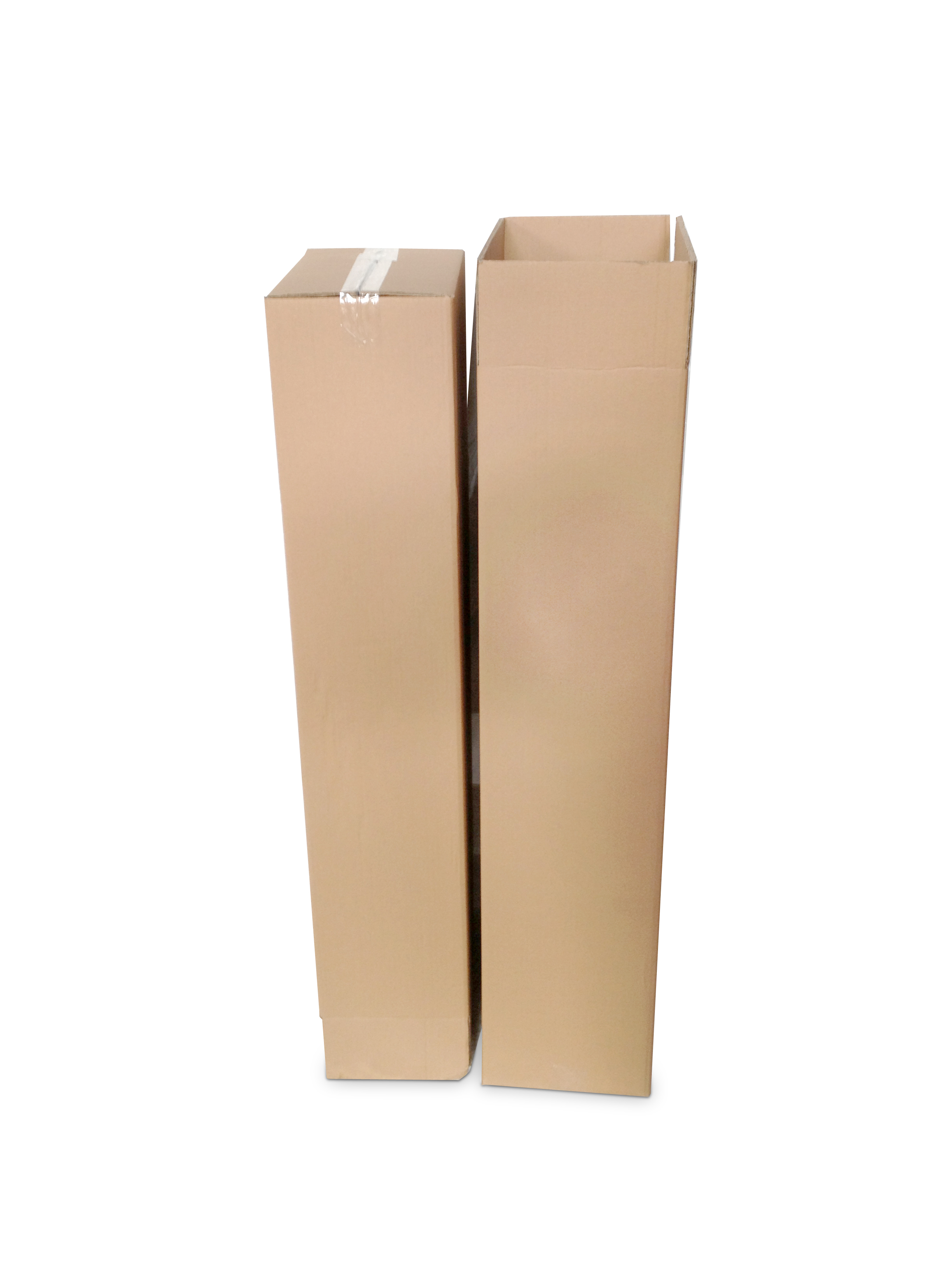 1). beide Kartons aufbauen